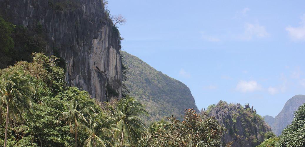 <div>El Nido cliffs</div> <div>300 million years old</div>